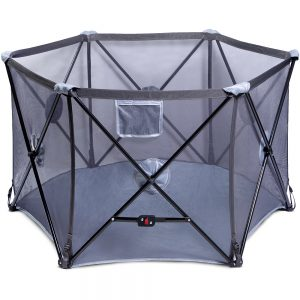 Baby Safe Foldable Playard - Grey
