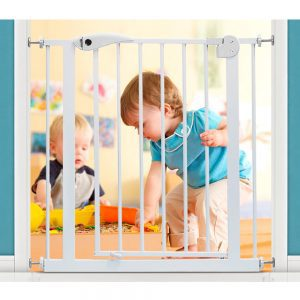 Baby Safe Metal Safety Gate - White