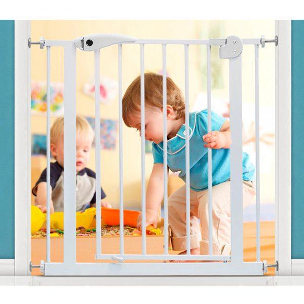 Baby Safe Metal Safety Gate - White