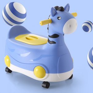 Eazy Kids Horse Potty Car - Blue