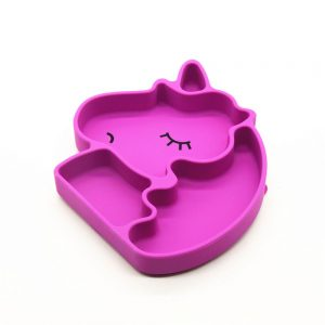 Eazy Kids Silicon Suction Plate - Unicorn Pink