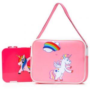 Eazy Kids Unicorn Bento Lunch Bag