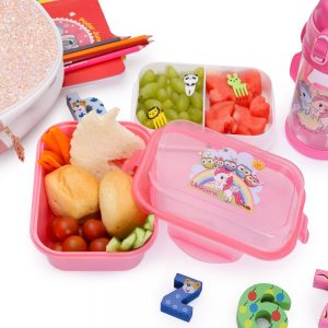 Eazy Kids Unicorn Bento Lunch Box with spoon - Pink