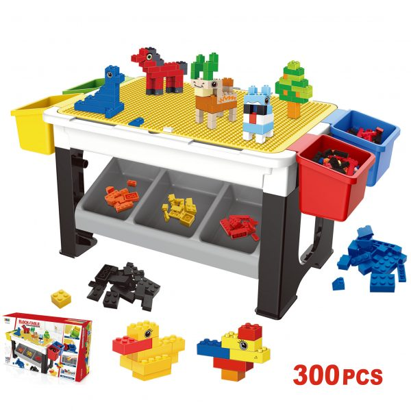 LITTLE STORY BLOCKS 3 IN 1 ACTIVITY TABLE - Grey