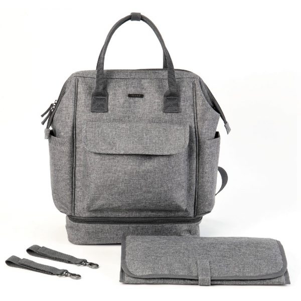 Little Story Albany Diaper Bag - Grey