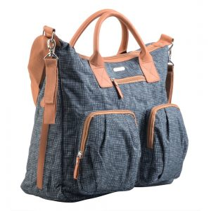 Little Story Bronx Diaper Bag - Grey