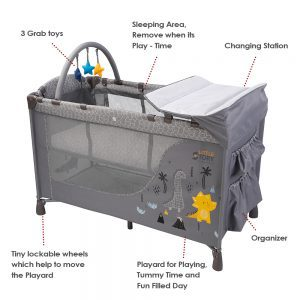 Little Story Foldable Cot and Playard