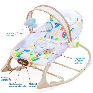 Little Story Galaxy Dreams Baby Rocker with  Smart Touch