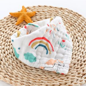 Little Story - Muslin Bandana Bibs - Set of 2 - Unicorn