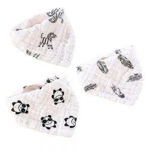 Little Story - Muslin Bandana Bibs - Set of 3 - Jungle Fun
