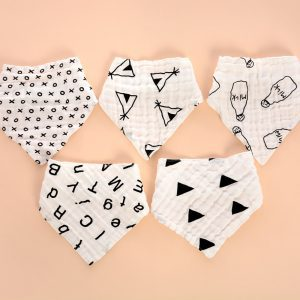 Little Story - Muslin Bandana Bibs - Set of 5