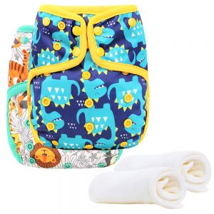 Little Story - Reusable Diapers and Inserts- Set of 2