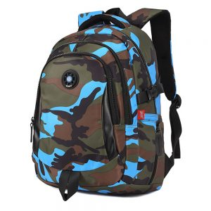 SB Camouflage XL School Bag - Blue