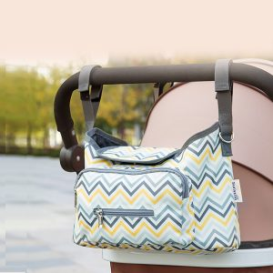 Sunveno Baby Stroller Organizer/Bag - Yellow wave