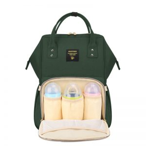 Sunveno Diaper Bag Embroidery - Olive Green