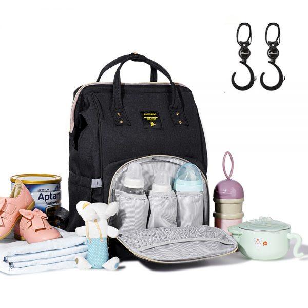 Sunveno Diaper Bag with USB + Hooks