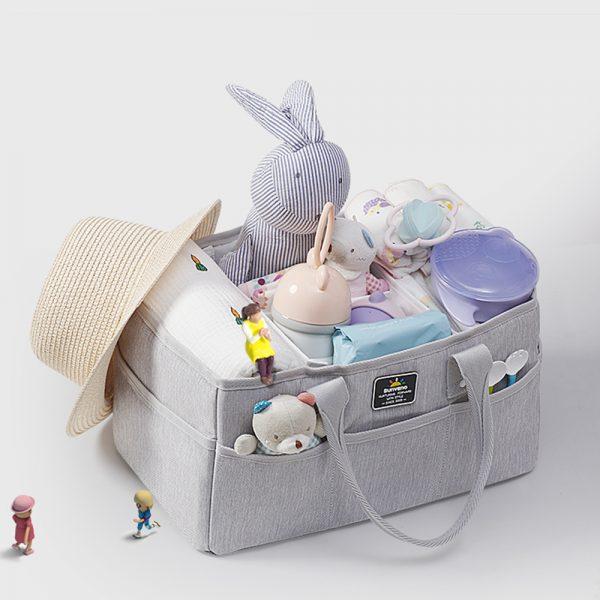 Sunveno Organizer - Diaper Caddy - Grey