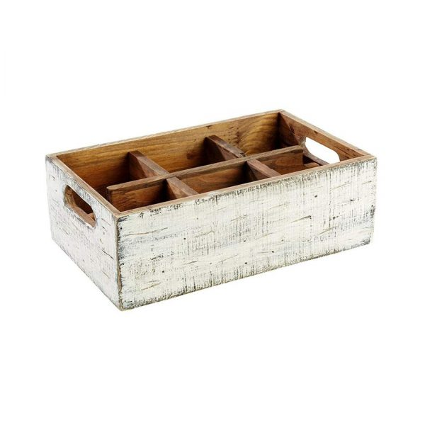 VINTAGE TABLE CADDY (6 COMPARTMENTS)