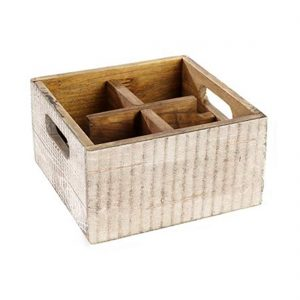 VINTAGE TABLE CADDY (4 COMPARTMENTS)