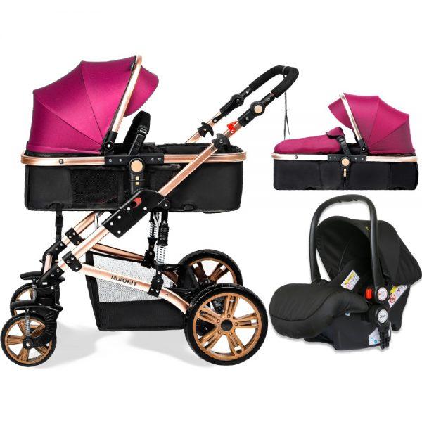 Teknum 3 in 1 Pram stroller - Infant Car Seat