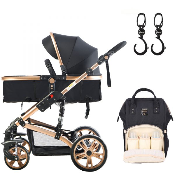 Teknum 3 in 1 stroller - Story + SUNVENO Diaper Bag with Hooks
