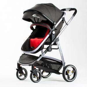 Teknum 3 in 1 Premium Pram Stroller - Grey