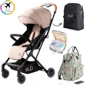 Teknum Travel Lite Stroller - Sunveno  Diaper Bag and Clutch Combo