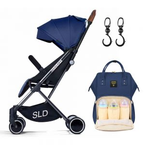 Teknum Travel Lite Stroller + Sunveno Diaper bag with Hooks