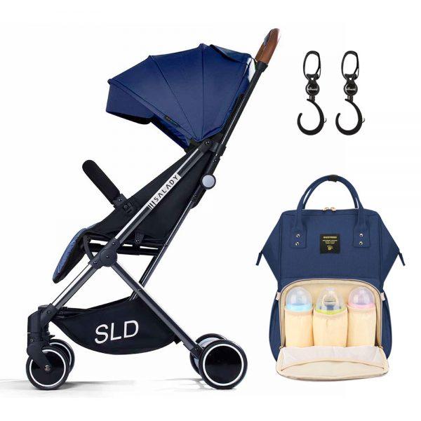 Teknum Travel Lite Stroller + Sunveno Diaper bag with Hooks