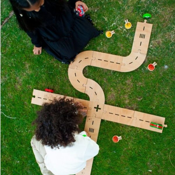 Wooden Street Play Track