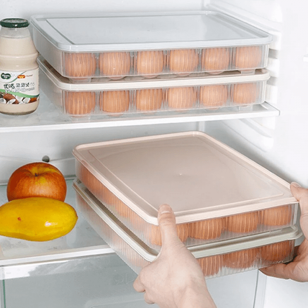 24 Grid Plastic Egg Organizer Storage Box