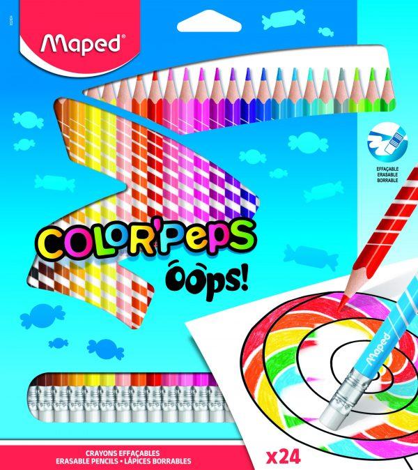 Color Pencils erasable Oops 24 colors