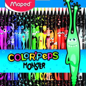 Color Pencils Black Monster 24 colors