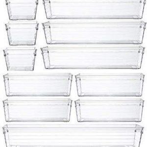 Multipurpose Plastic Drawer Organizer - 14 Pcs