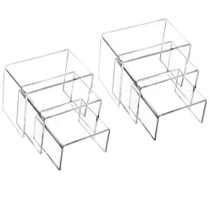 Multipurpose Clear Acrylic Display Risers - 2 Sets