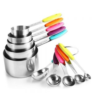 Measuring Cups and Spoons Set - 10Pcs