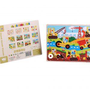 Al Ostoura Educational Toys - Hand Catch Puzzle - Engineering Vehicle
