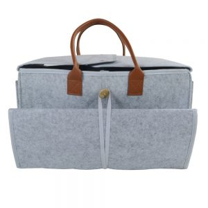 Little Story -  2 in1 Diaper Caddy with Mat XL - Grey