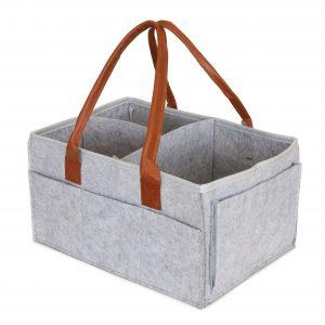Little Story Diaper Caddy+Travel Pouch-Medium-Grey