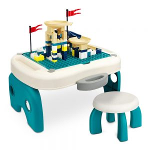 Little Story - Foldable Portable Block Table with 50 Blocks & Stool