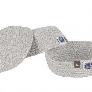 Little Story Multipurpose Rope Baskets- Set of 3 - Grey