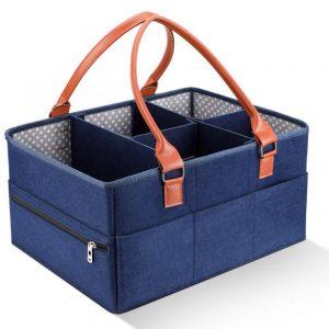 Little Story - Premium Diaper Caddy - Blue